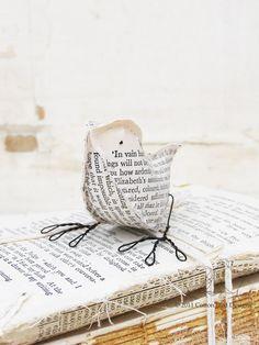 paper birds using recycled pride & prejudice