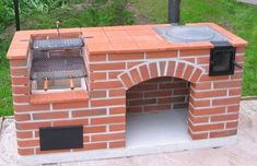 28 Outdoor Wood-fired Ovens Help to Jazz Up Your Backyard Time Backyard Kitchen, Fire Pit Backyard, Outdoor Kitchen Design, Backyard Patio, Design Barbecue, Design Grill, Patio Design, Outdoor Kocher, Brick Grill