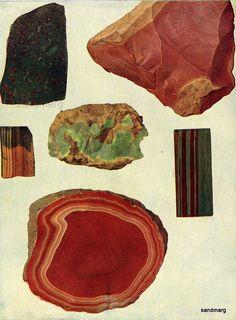 Original Antique Edwardian Gemstone Chart