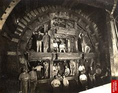 Construction work on the Central Line of the London Underground, 1898
