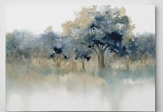 Andover Mills 'Waters Edge II' Oil Painting Print on Wrapped Canvas Office Canvas Art, Canvas Wall Decor, Canvas Art Prints, Painting Prints, Canvas Artwork, Painting Clouds, Rain Painting, Painting Classes, Painting Videos