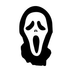 Scream Die Cut Vinyl Decal for Windows, Vehicle Windows, Vehicle Body Surfaces or just about any surface that is smooth and clean Halloween Stencils, Halloween Drawings, Vinyl Wall Stickers, Vinyl Wall Art, Car Decals, Pumpkin Stencil, Cool Art Drawings, Scream, Painted Rocks