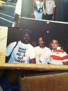 With famed House Music Legend Frankie Knuckles on left