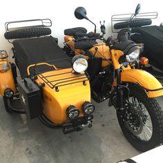 Now thats a cool sidecar! Ural Bike, Ural Motorcycle, Moto Bike, Three Wheel Bicycle, Amphibious Vehicle, Red Tricycle, Chopper, Motorised Bike, Cool Motorcycles