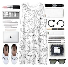 """Could end it burning flames or paradise 🔥"" by itaylorswift13 ❤ liked on Polyvore featuring Monki, Ray-Ban, Karl Lagerfeld, Calvin Klein, Parker, Boohoo and MAC Cosmetics"