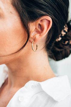 Bamboo Gold Hoop Earring | Jimnojean