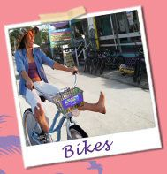 Anna Maria Island, FL. Rent your tandem bike here! @ Beach Bums