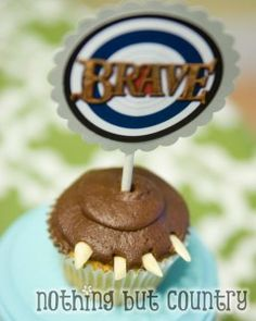 Brave Movie – Bear Claw Cupcakes