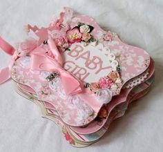 Pretty in Pink - this gorgeous baby girl mini album from Papered Memories - My… Mini Album Scrapbook, Scrapbook Bebe, Baby Girl Scrapbook, Mini Albums, Baby Mini Album, Girls Album, Mini Album Tutorial, Marianne Design, Album Design