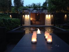 How to use lights in à garden. Project designed by Martin Veltkamp from The Netherlands.