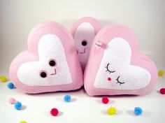 One marshmallow heart plush toy by scrumptiousdelight on Etsy, $22.50