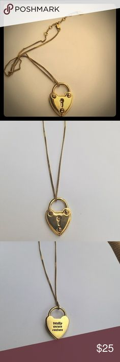 Juicy couture heart lock necklace Preowed necklace Juicy Couture Jewelry Necklaces