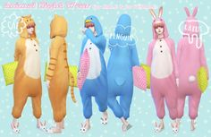 Animal night wear at Imadako via Sims 4 Updates
