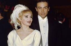 Actress Diane Cilento was married to actor Sean Connery He has been married to Moroccan-French painter Micheline Roquebrune since Sean Connery James Bond, Hollywood Wedding, Old Hollywood, Hollywood Stars, Classic Actresses, Actors & Actresses, Celebrity Couples, Celebrity Weddings, James Bond Tuxedo