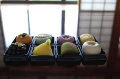 Japanese sweets - I have to learn how to utilize this much color and creativity in my cooking