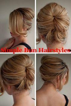 Simple Bun Hair Styles.hairstyle ideas,ladies hairstyles,short hairstyles for women,hairstyles for thick hair,hairstyles for women,short hairstyles,modern hairstyles,hairstyles for fine hair,hairstyles for thin hair by tina66
