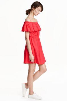 Vestido de algodón sin hombros