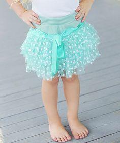 Another great find on #zulily! Aqua & White Polka Dot Tutu Skirt - Infant, Toddler & Girls #zulilyfinds