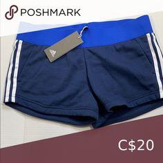 Adidas Shorts Shorts have pockets. Adidas Shorts, Plus Fashion, Fashion Tips, Fashion Trends, Blue Adidas, Adidas Women, Casual Shorts, Pockets, Best Deals