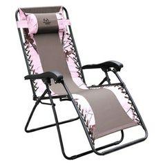 Realtree Pink Zero Gravity Chair