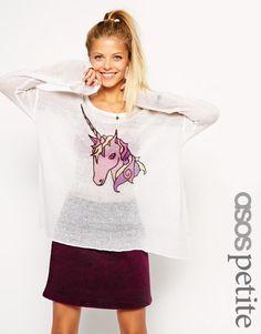 Enlarge ASOS PETITE Jumper with Unicorn