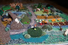 tapis crochet paysage