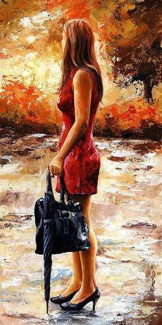 Lady in Red by Emerico Toth