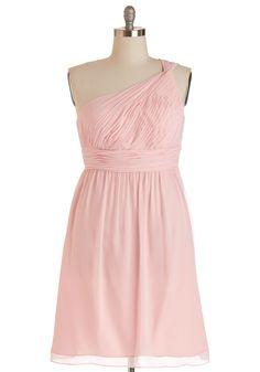 Magnetic A-line One-shoulder Knee-length Chiffon Pink Bridesmaid Dresses