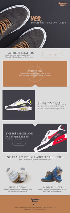 SneakerLover Email Template PSD by Vector Chameleon on Creative Market