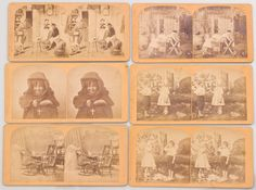 Antique 1800's Victorian FG Weller Real Photo Stereoview Card Lot #Stereoviews #VictorianPhotos #Stereographs FREE SHIPPING!