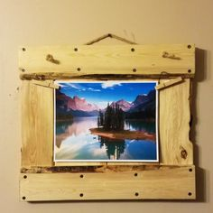 rustic photo holder, rustic picture holder, photo frame, picture frame, custom picture frame, custom photo frame, custom frame by PalletiumWoodWorks on Etsy