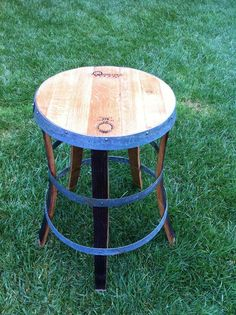Wine Barrel Bistro Table by FALLENOAKDESIGNS on Etsy, $425.00