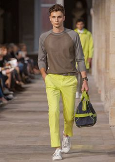 Hermes is feeling neon in their menswear