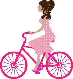 pink bike lady etsy - Google Search