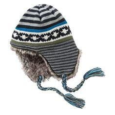 abd2305a554 Urban Pipeline Fair Isle Knit Trapper Hat With Faux Fur Ear Flaps NWT   fashion  clothing  shoes  accessories  mensaccessories  hats (ebay link)