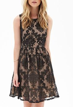 Abstract Embroidered Cocktail Dress | FOREVER21 - 2055878941