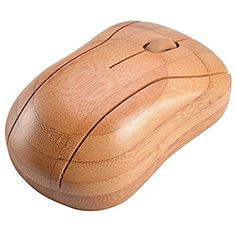 Bamboo Wireless Optical Mouse Healthy Sweat-resistant Anti-radiation Wireless Mouse. #affiliate