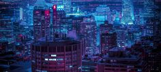 Montreal at Night, taken by Ubisoft Graphic Design Director Liam Wong
