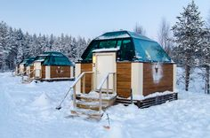 Glass igloos! They are about as small as they look from outside :P