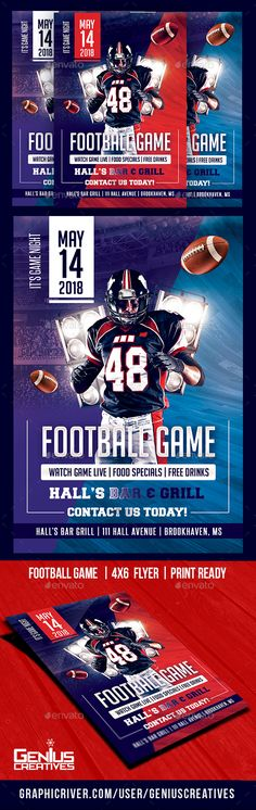 #Football GameDay Flyer Template - Sports Events