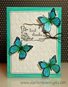 Darlene Design - gorgeous butterfly made with Faber Castell Gelatos (plus a video tutorial)