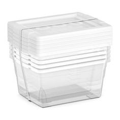 5 Pack Small Storage Boxes 2.2 Quarts