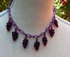 Vintage Art Deco Purple Grape Figural Fruit by WillowBloom on Etsy, $78.00