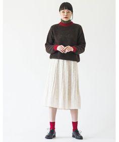Bi-Color KNIT #SINDEE #Kanoco #fashion