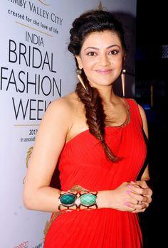 Kajal Aggarwal smiles for the photographers #Fashion #Style #Beauty #Bollywood