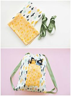 Easy Sewing With Kids: DIY 30 Minute Drawstring Fabric Backpack