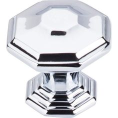 top knobs chareau emerald knob in polished chrome modern