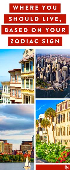 Here's what U.S. city you should live in, based on your zodiac sign. #zodiac #zodiacsign #cities #travel
