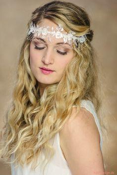 Haarschmuck Braut Haarband Belle Boheme Schleier 4 von kido-design auf DaWanda.com