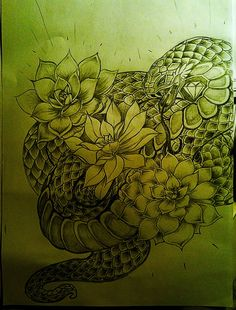 snakes n succulents by declantransam.deviantart.com on @deviantART
